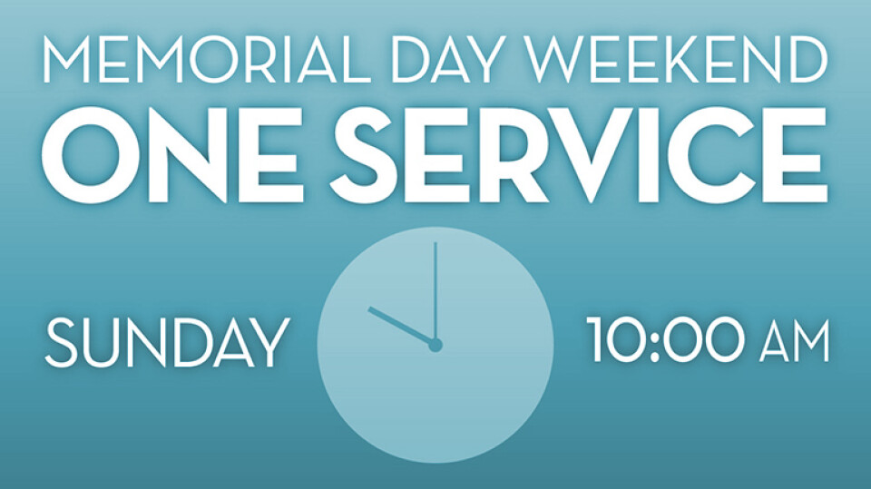 One Service Sunday 10:00am