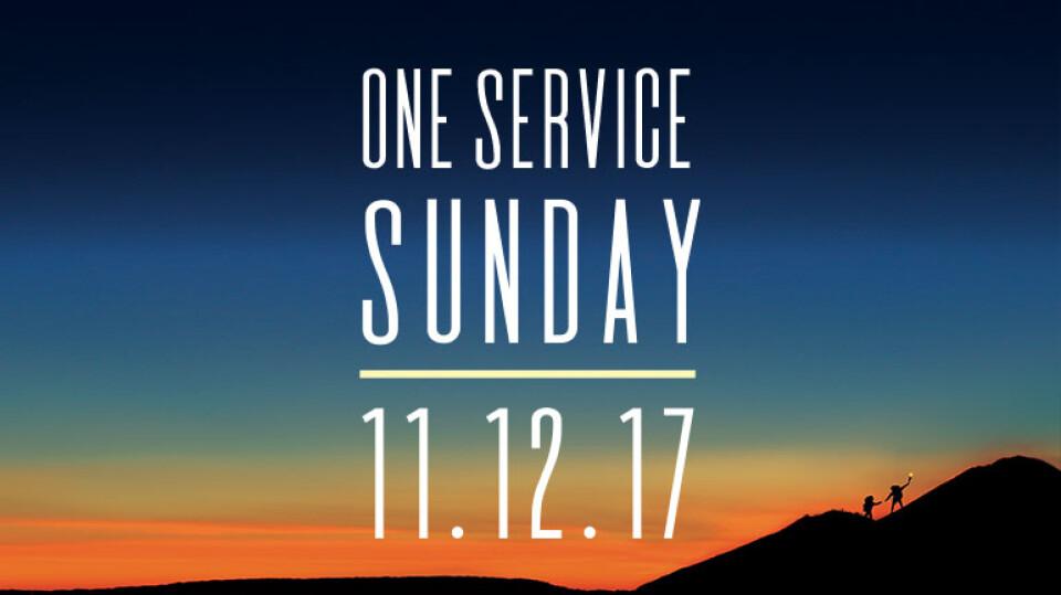 One Service Sunday 10:00am