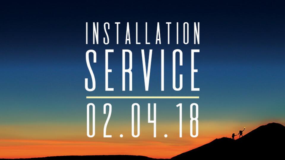 Installation One Service Sunday