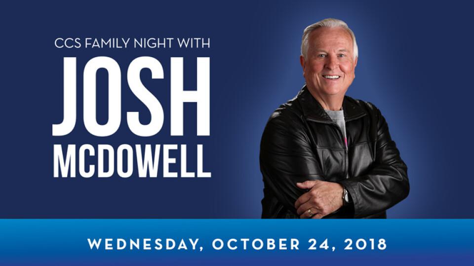 CCS Family Night with Josh McDowell