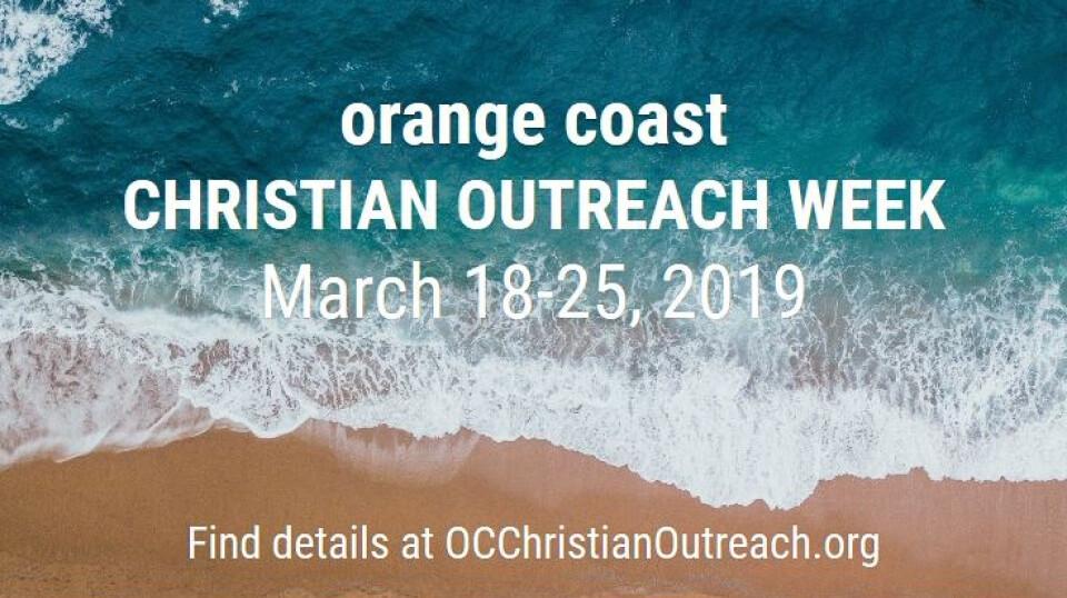 Orange Coast Christian Outreach Week 2019