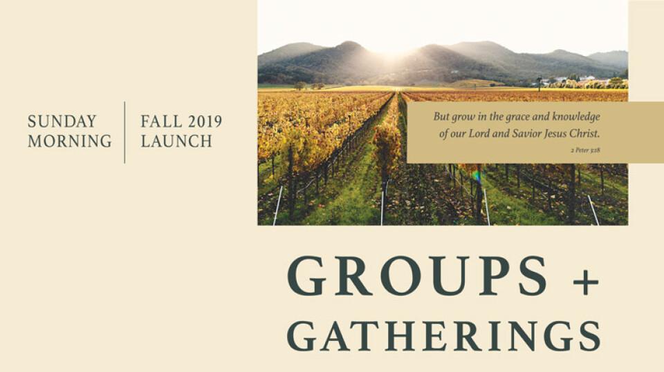Sunday Groups + Gatherings Launch