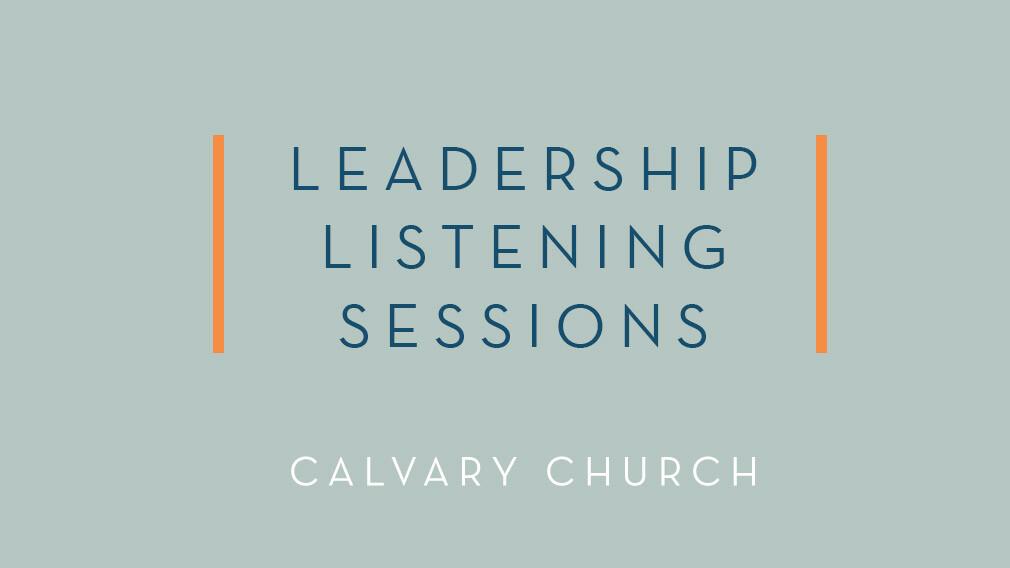 Leadership Listening Sessions: Online
